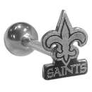 Siskiyou Buckle FTSB150 New Orleans Saints Barbell Tongue Ring
