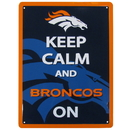 Siskiyou Buckle Denver Broncos Keep Calm Sign, FWPK020