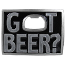 Siskiyou Buckle G259E Got Beer? Bottle Opener Enameled Belt Buckle