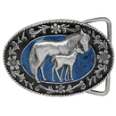 Siskiyou Buckle G4000E Mare with Colt Enameled Belt Buckle