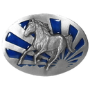 Siskiyou Buckle G40E Running Horse - Enameled Belt Buckle