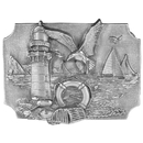 Siskiyou Buckle Coastal Scene Antiqued Belt Buckle, G85