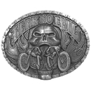 Siskiyou Buckle Fear No Evil Antiqued Belt Buckle, G9