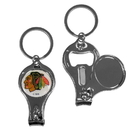 Siskiyou Buckle H3KC10 Chicago Blackhawks Nail Care/Bottle Opener Key Chain