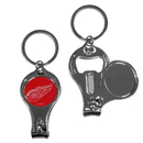 Siskiyou Buckle H3KC110 Detroit Red Wings Nail Care/Bottle Opener Key Chain