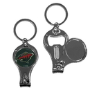 Siskiyou Buckle H3KC145 Minnesota Wild Nail Care/Bottle Opener Key Chain