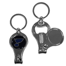 Siskiyou Buckle H3KC15 St. Louis Blues Nail Care/Bottle Opener Key Chain