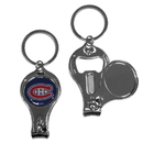 Siskiyou Buckle H3KC30 Montreal Canadiens Nail Care/Bottle Opener Key Chain