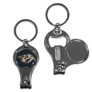 Siskiyou Buckle H3KC40 Nashville Predators Nail Care/Bottle Opener Key Chain