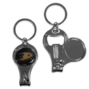 Siskiyou Buckle H3KC55 Anaheim Ducks Nail Care/Bottle Opener Key Chain