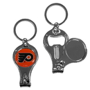 Siskiyou Buckle H3KC65 Philadelphia Flyers Nail Care/Bottle Opener Key Chain