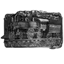Siskiyou Buckle H40 Train Antiqued Belt Buckle