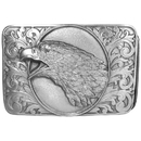 Siskiyou Buckle Eagle on Western Scroll Antiqued Belt Buckle, H76