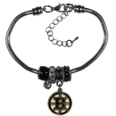 Siskiyou Buckle Boston Bruins Euro Bead Bracelet, HBBR20