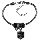 Siskiyou Buckle Los Angeles Kings Euro Bead Bracelet, HBBR75