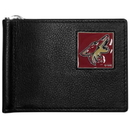 Siskiyou Buckle HBCW45 Arizona Coyotes Leather Bill Clip Wallet