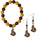 Siskiyou Buckle Ottawa Senators Fan Bead Earrings and Bracelet Set, HBDE120BB