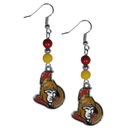 Siskiyou Buckle HBDE120 Ottawa Senators Fan Bead Dangle Earrings