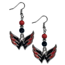 Siskiyou Buckle HBDE150 Washington Capitals Fan Bead Dangle Earrings