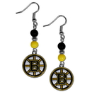 Siskiyou Buckle HBDE20 Boston Bruins Fan Bead Dangle Earrings