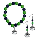 Siskiyou Buckle Vancouver Canucks Fan Bead Earrings and Bracelet Set, HBDE35BB