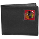 Siskiyou Buckle HBI10 Chicago Blackhawks Leather Bi-fold Wallet Packaged in Gift Box