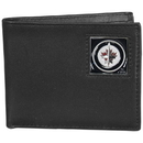 Siskiyou Buckle HBI155BX Winnipeg Jets; Leather Bi-fold Wallet