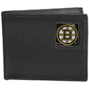 Siskiyou Buckle HBI20 Boston Bruins Leather Bi-fold Wallet Packaged in Gift Box