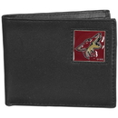 Siskiyou Buckle HBI45 Arizona Coyotes Leather Bi-fold Wallet Packaged in Gift Box