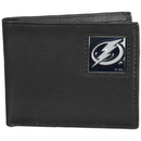 Siskiyou Buckle HBI80 Tampa Bay Lightning Leather Bi-fold Wallet Packaged in Gift Box