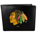Siskiyou Buckle Chicago Blackhawks Bi-fold Wallet Large Logo, HBIL10