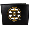 Siskiyou Buckle HBIL20 Boston Bruins Bi-Fold Wallet Large Logo