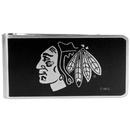 Siskiyou Buckle HBKM10 Chicago Blackhawks Black and Steel Money Clip