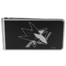 Siskiyou Buckle HBKM115 San Jose Sharks Black and Steel Money Clip