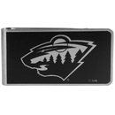 Siskiyou Buckle HBKM145 Minnesota Wild Black and Steel Money Clip
