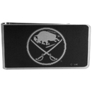 Siskiyou Buckle HBKM25 Buffalo Sabres Black and Steel Money Clip