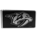 Siskiyou Buckle HBKM40 Nashville Predators Black and Steel Money Clip