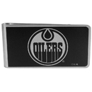 Siskiyou Buckle HBKM90 Edmonton Oilers Black and Steel Money Clip