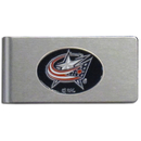 Siskiyou Buckle HBMC130 Columbus Blue Jackets? Brushed Metal Money Clip
