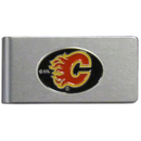 Siskiyou Buckle HBMC60 Calgary Flames? Brushed Metal Money Clip