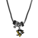 Siskiyou Buckle HBNK100 Pittsburgh Penguins Euro Bead Necklace