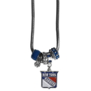 Siskiyou Buckle HBNK105 New York Rangers Euro Bead Necklace