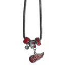 Siskiyou Buckle HBNK110 Detroit Red Wings Euro Bead Necklace