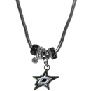 Siskiyou Buckle HBNK125 Dallas Stars Euro Bead Necklace