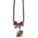 Siskiyou Buckle HBNK50 New Jersey Devils Euro Bead Necklace