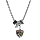 Siskiyou Buckle HBNK95 Florida Panthers Euro Bead Necklace
