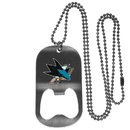 Siskiyou Buckle San Jose Sharks Bottle Opener Tag Necklace, HBTN115