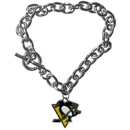 Siskiyou Buckle HCBR100 Pittsburgh Penguins Charm Chain Bracelet