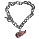 Siskiyou Buckle HCBR110 Detroit Red Wings Charm Chain Bracelet