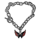 Siskiyou Buckle HCBR150 Washington Capitals Charm Chain Bracelet